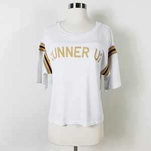 Current/Elliott - NWT White Graphic Tee/Top Size 0